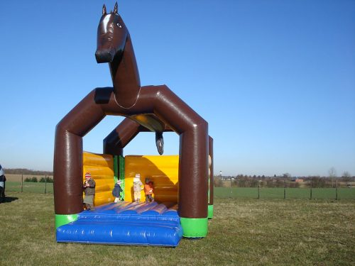 Hüpfburg Pferd 5 x 5 Meter