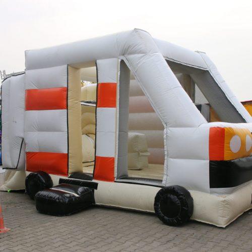 Krankenwagen Hüpfburg weiß orange